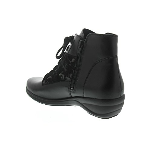 Waldläufer Haga, Memphis / Carmen (Glatt- / Nubukleder), schwarz, Weite H 305804-402-001 Schwarz