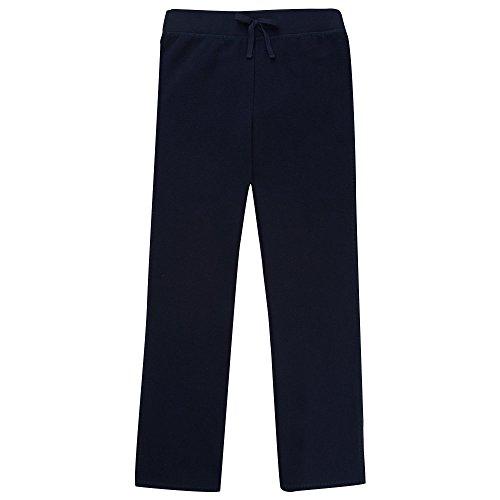 French Toast Girls' Big Fleece Sweatpant, Navy, M (7/8)