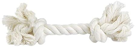 BEEZTEES Cordon en Coton avec 3 Nœuds pour Chien Blanc 220 g 640925