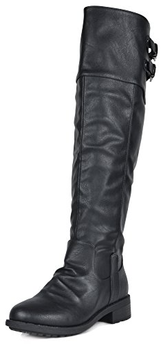 Black Motorcycle Riding Boots - 1