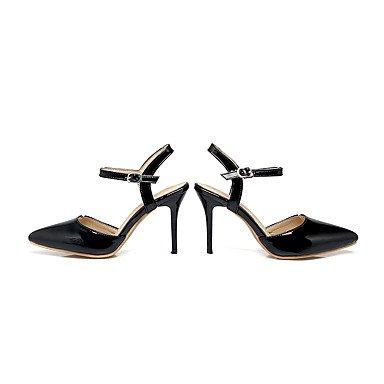 Enochx sandali da donna estate autunno Slingback PU ufficio & carriera party & abito da sera tacco a spillo fibbia, beige, US4–4.5/EU34/UK2–2.5/CN33