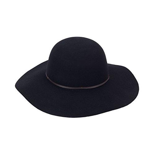 Wholesale Boutique Wool Floppy Hat Black