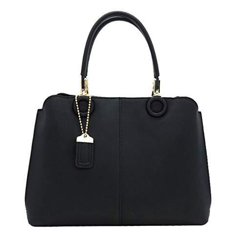 Kelly De À PU Black Sacs Messenger Sac Main Sac Bag Femmes Grande Capacité Bag 0qTW5Sc