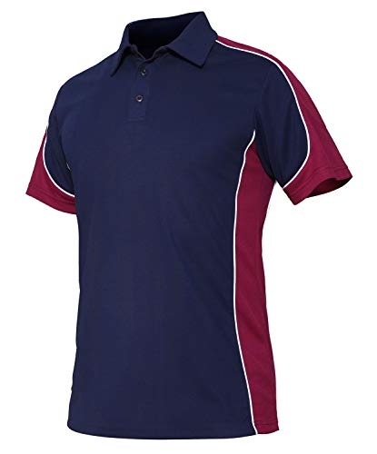 Classic Field Polo - CRYSULLY Male Spring Safari Outdoors Polo Shirt Stylish Classic Climbing Sailing Field T-Shirt Wine Red
