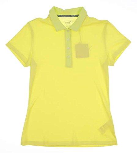 (PUMA New Womens 2018 Jacquard Polo Small S Sunny Lime 574648)