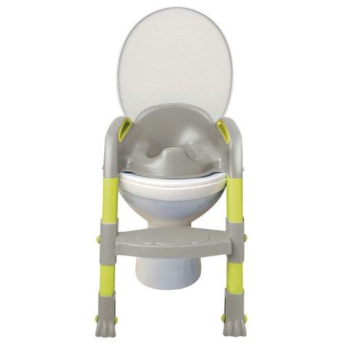 Kiddyloo Toilet Seat Reducer (Grey/Green) - Toddler Potty Training Seat