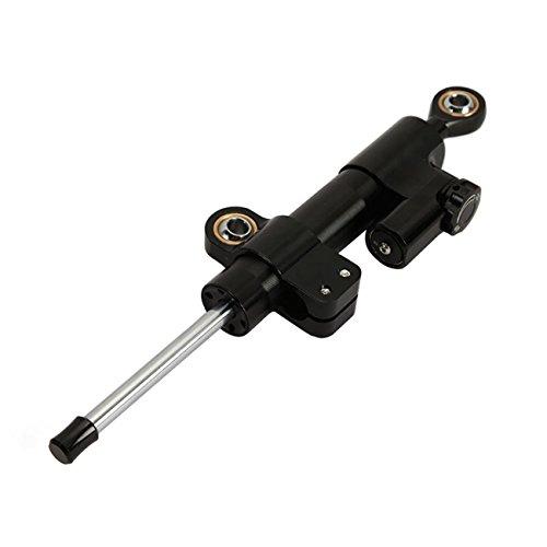 (INNOGLOW Motorcycle Steering Damper Control Universal CNC Black 10