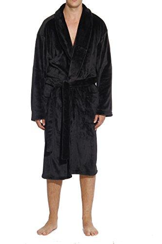 #followme 46901-BLK-XL Velour Robe/Robes For Men (Mens Velour Robes)