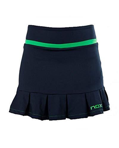 NOX Falda Pro Azul Logo Verde Mujer: Amazon.es: Deportes y ...