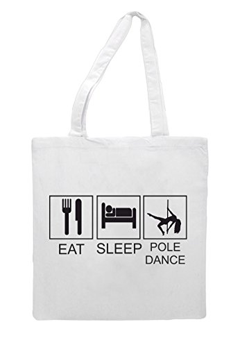 Activity Dance Funny Pole Sleep Tiles Tote White Hobby Bag Eat Shopper FOx1q