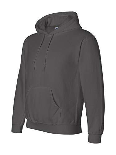 Gildan G125 DryBlend Adult Hooded Sweatshirt, Charcoal, Small