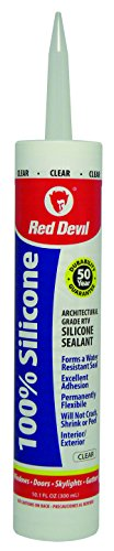 Red Devil 826 100% Silicone Sealant Clear Architectural Grade 50 Yr.10.1 oz. Cartridge from Red Devil