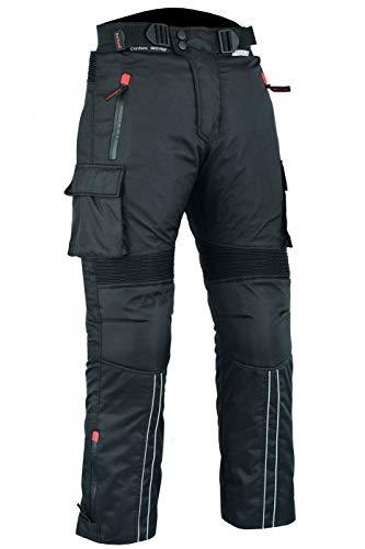 BULLDT Motorradhose Cargo Textilhose Cargohose Schwarz, Größe:54/XL