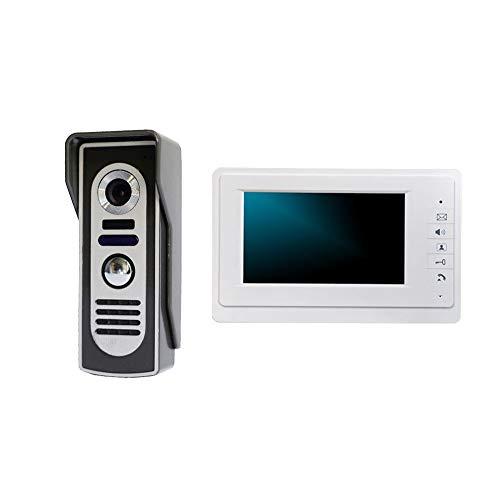 Color de 7 pulgadas Cableado Video inteligente Timbre de la casa Villa de construcción de viviendas Intercomunicador de voz...