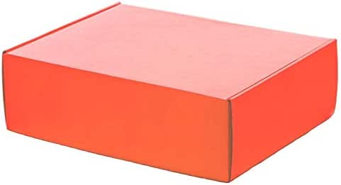 Juego de 10 cajas de correo de 9 x 6 pulgadas, color naranja brillante, tamaño 9 x 6 x 3 pulgadas, cajas de cartón resistente para regalos, dulces, galletas: Amazon.es: Hogar