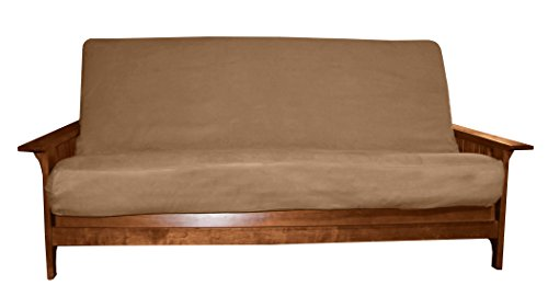 - Better Fit Machine Washable Upholstery Grade Futon Cover , Queen 6-Inch-size, Microfiber Suede Mocha Brown