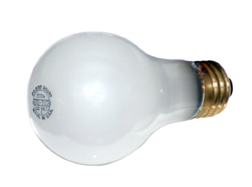 Incandescent Rough - Aero-Tech ULA-95 20,000 Hour 60-Watt A-19 Frosted Rough Service Incandescent Bulb, 6-Pack