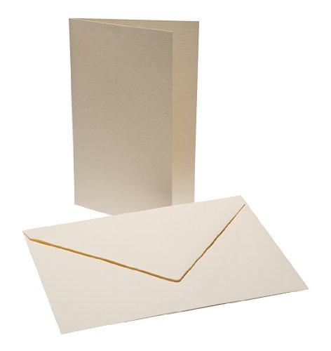 Faltkarten Set B6 mit Umschlag - creme