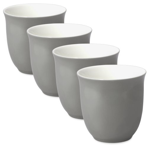 FORLIFE Japanese Teacup (Set of 4), 6.5 oz., Gray by FORLIFE