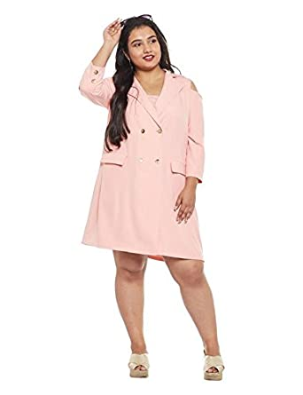 Nubella Womens Plus Size Hida Blazer Dress100130 Blush Xxxxxl