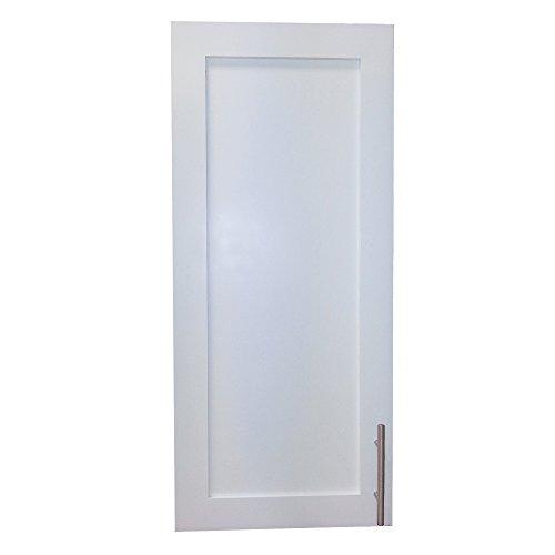 Wood Cabinets Direct Recessed Standard Depth Aspen Frameless Cabinet, 28-Inch, White Enamel