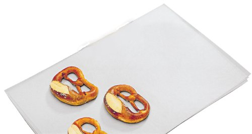 Parchment Paper, Non-stick Coated (Quillon Parchment), 16'' x 24'' (Fits on 18'' x 26'' Sheet Pan) 30 Sheets by Burke Supply