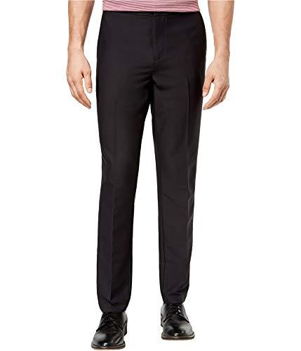 Michael Kors Mens Athleisure Stretch Dress Pant Slacks Black 38x32