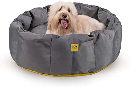 K9 Ballistics Round Dog Bed Deep Den, Bagel, Donut, and Deep Dish Style for Cuddler, Machine Washable