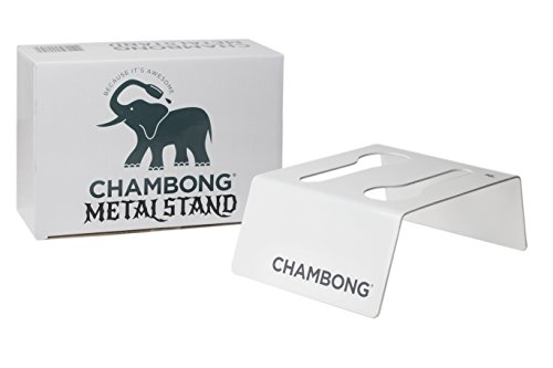CHAMBONG – Chambong Holder for Easy Refills – White Powder Coated Steel Stand for All Chambong Sizes – Holds 2 Pieces