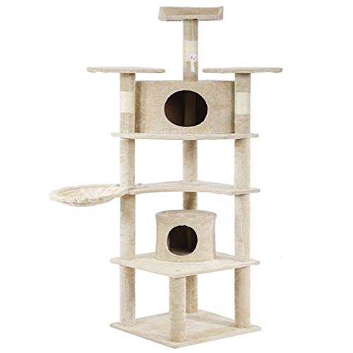 73″ Cat Tree Scratcher Play House Condo Furniture Bed Post Pet House (style1)