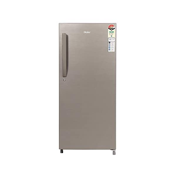 Haier 195 L 4 Star Direct-Cool Single-Door Refrigerator (HED- 20CFDS, Dazzle Steel) 2021 August Direct-cool refrigerator which comes with 1 hour Icing Technology to ensures faster ice formation within 60 mins along with super-fast cooling. Capacity: 195 litres suitable for a medium sized family. Energy rating: 4 star, Annual energy consumption: 130 kwh/yr