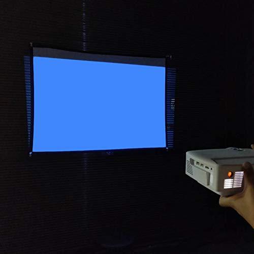 84 pollici 9 Design pieghevole per la casa Schermo di proiezione Soft Polyester Film Theater Outdoor Film Schermo video per proiettore Large Size 16 Bianco