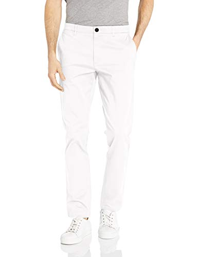 (Goodthreads Men's Skinny-Fit Washed Chino Pant, White, 30W x 28L)