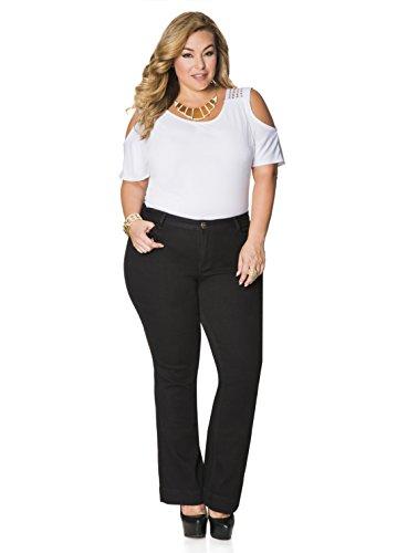 Ashley Stewart Womens Plus Size Pet Black Bootcut   Color  Black  Size  12