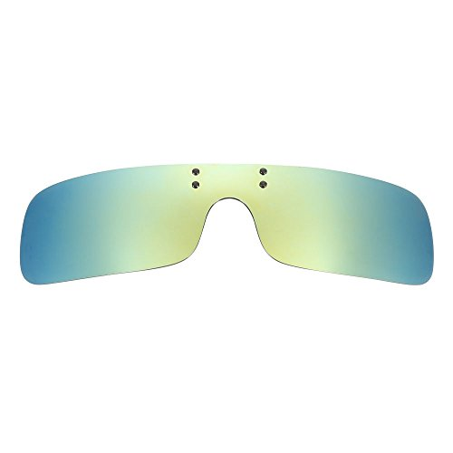 Farway Polarized Clip-on Flip Up Plastic Sunglasses Frameless Rectangle Lenses Glasses for Outdoor Activities Travel Driving Fishing (Light - Sunglasses Eclipse