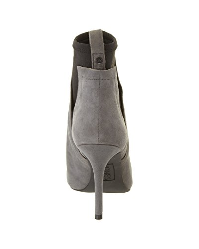 Jones New York Dames Ashley Zwart / Grijs Kid Suede / Elastic