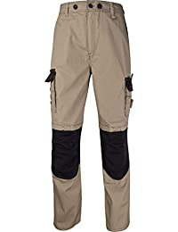Panoply Men's Workwear Trousers Work Pants Reinforced With Knee Pad Pockets
