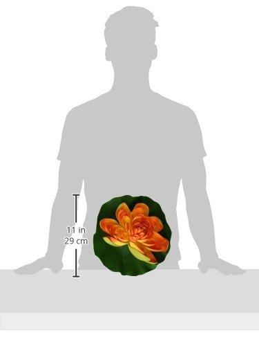 Amazon.com : eDealMax acuario espuma Flor de Loto decoración, Naranja/Verde : Pet Supplies