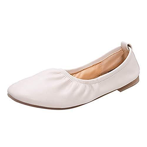Day Bouts Chaussures Bateau Unis Souples À Bout Beige Danse Loisir De Escarpins Femmes lin Adultes Rond rr5RwqPA