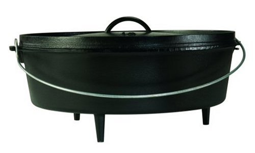 Lodge L16CO3 Pre-Seasoned Camp Dutch Oven with Iron Lid, 12-Quart by Lodge