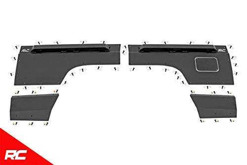 Rough Country Rear Quarter Panel Armor Compatible w/ 1997-2001 Jeep Cherokee XJ Rear Upper/Lower Panel 10579