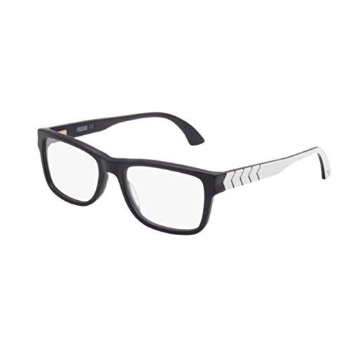 Puma - PU0047O, Geometric, acetate, men, BLACK WHITE(007 D), - 19 55 145