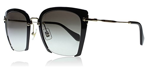Miu Miu Women's Cut Frame Sunglasses, Black/Grey, One Size