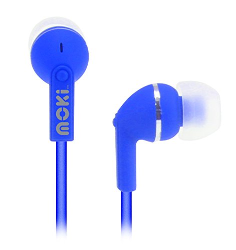 Moki Dots Noise Isolation Earbuds - BLUE by Moki