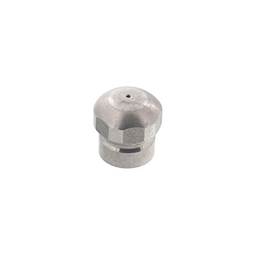 Erie Tools Button Nose 1/8 Sewer Jetter Drain Cleaning Nozzle, 4.0 Orifice Size, 4000 PSI, Max Temp 300 F by Erie Tools
