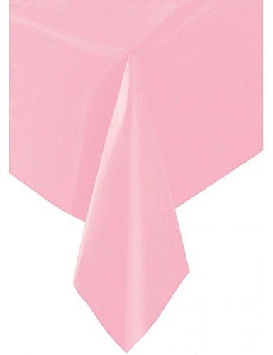 9ft x 4.5ft Plastic Hot Pink Chevron Tablecloth Unique Party 50371