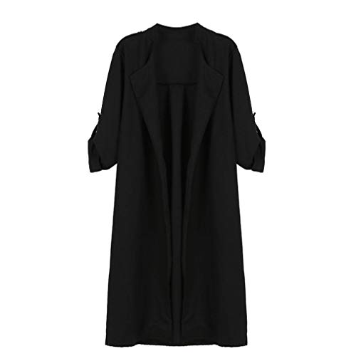 Autumn Winter Baigoods Womens Open Front Trench Coat Long Cloak Jackets Overcoat Waterfall Cardigan