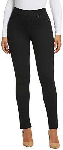 Gloria Vanderbilt Petite Avery Slim Ponte Pants 12P Black