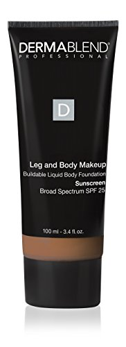Dermablend Leg and Body Makeup Foundation with SPF 25, 45W Tan Honey, 3.4 Fl. Oz.