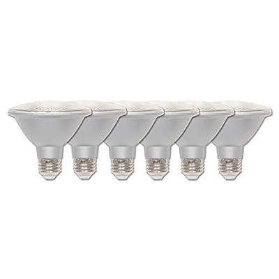 Westinghouse Lighting 5005120 5005100 10 (75-Watt Equivalent) PAR30 Short Neck Flood Dimmable Daylight Indoor/Outdoor Energy Star, Medium Base (6-Pack) LED Light Bulb, Clear, 6 Piece
